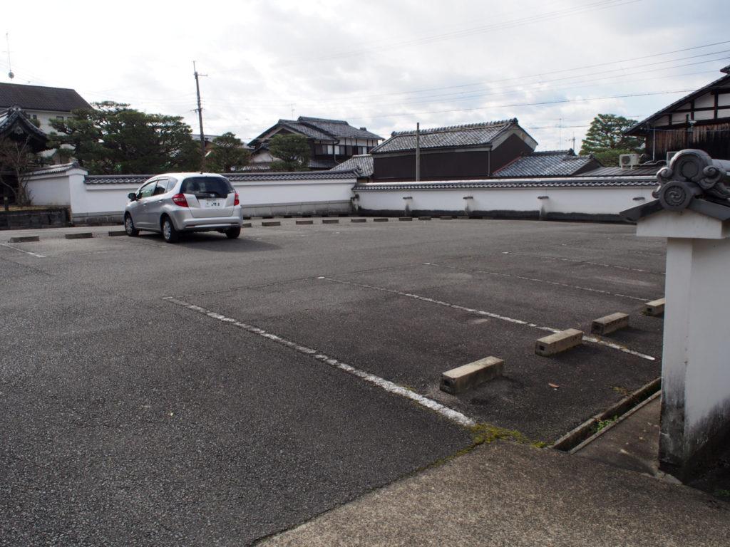 圓光寺の駐車場